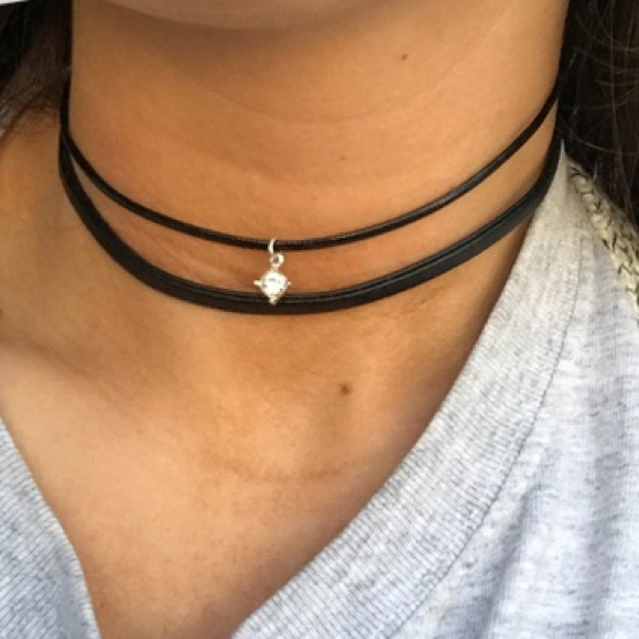 🐾free w/purchase🐾 black choker necklace